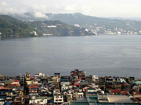 網代港の風景